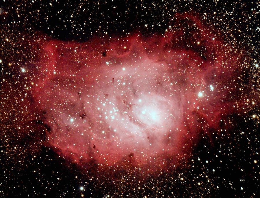 светлые и темные космические туманности