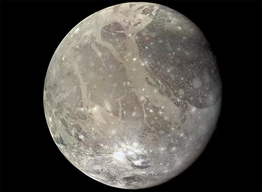 Ганимед - самый большой спутник Юпитера