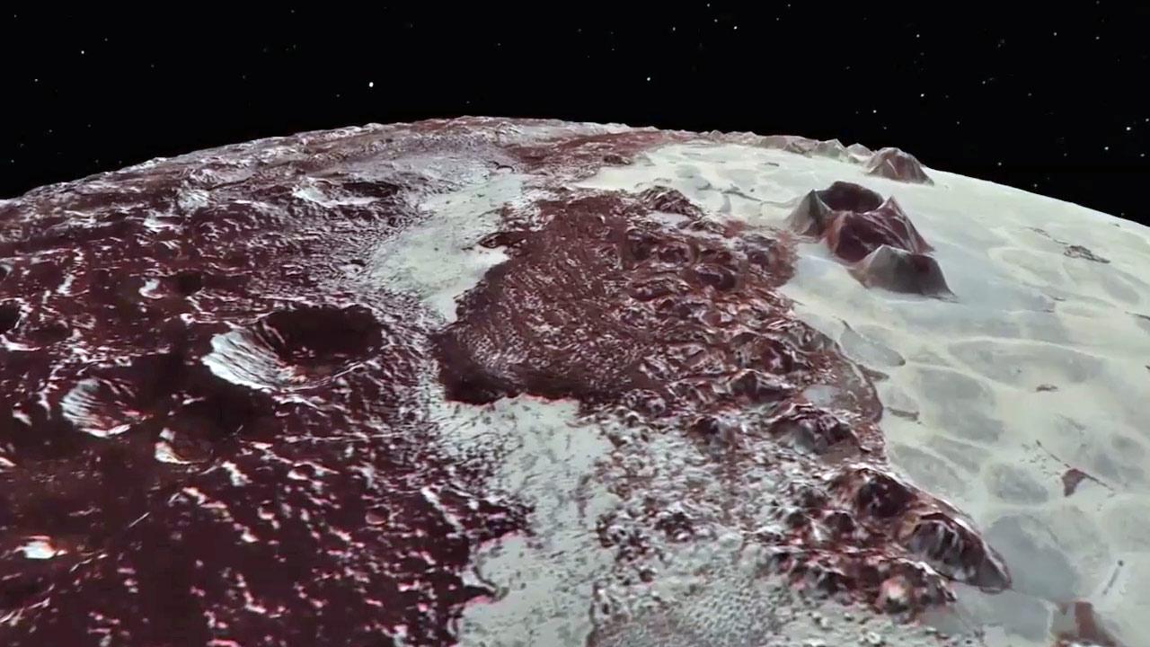 Поверхность Плутона снятая космическим зондом «Новые горизонты»