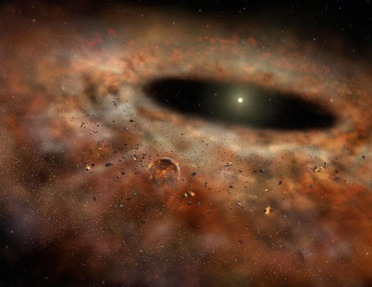 Формирование планет Солнечной системы из протопланетного диска