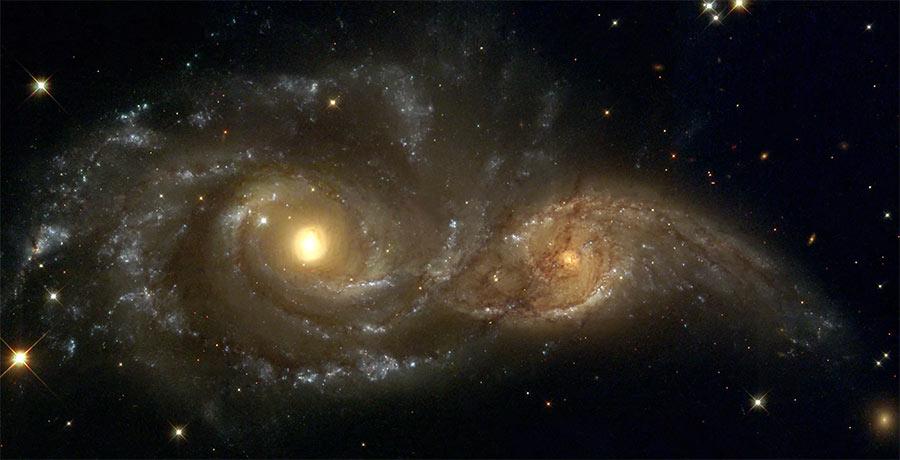 Столкновение галактик: фото космического телескопа «Хаббл»