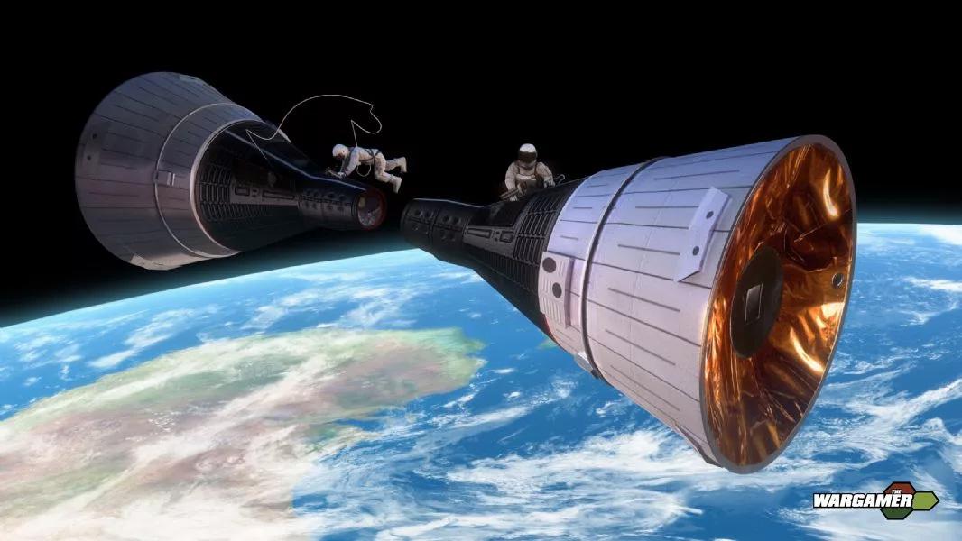 Как выглядела бы стыковка двух космических кораблей «Джемини» в открытом космосе