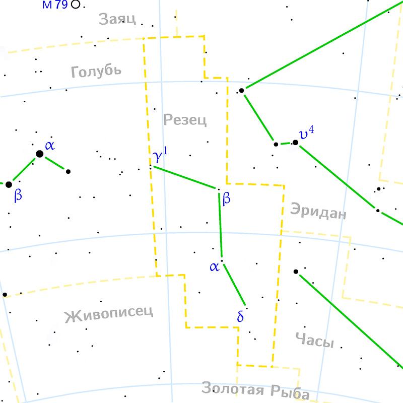 как найти созвездие резец на небе. звездная карта