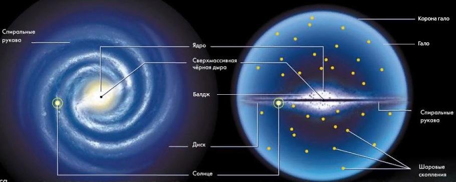 Строение спиральной галактики