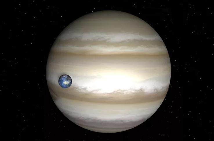 Размеры и масса планеты Юпитер в сравнении с Землей