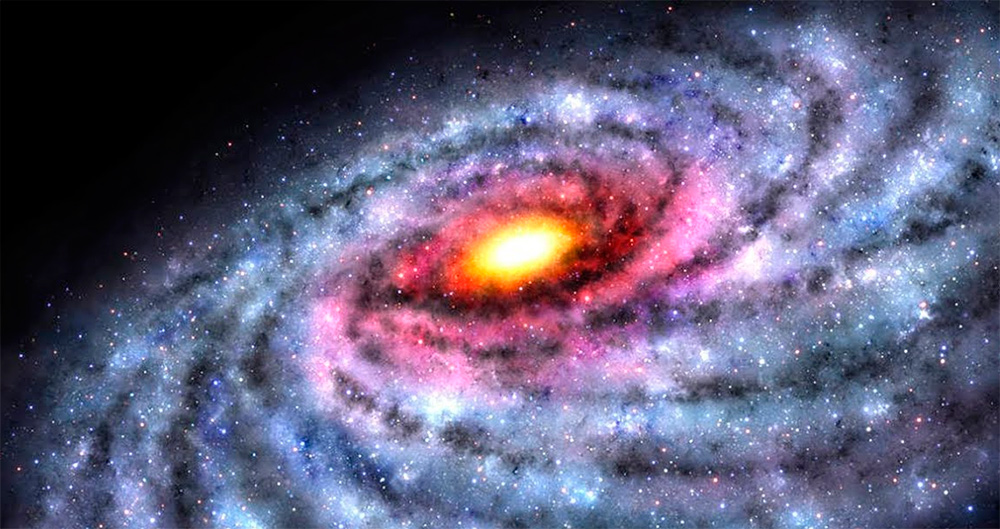 В центре галактики находится черная дыра
