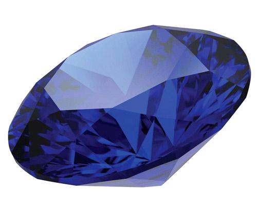Сапфир в бриллиантовой огранке