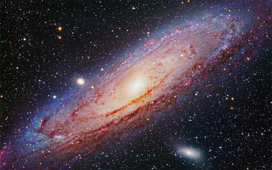 Наша «соседка», спиральная галактика М31. Возможно оттуда наш «Млечный путь» выглядит примерно также