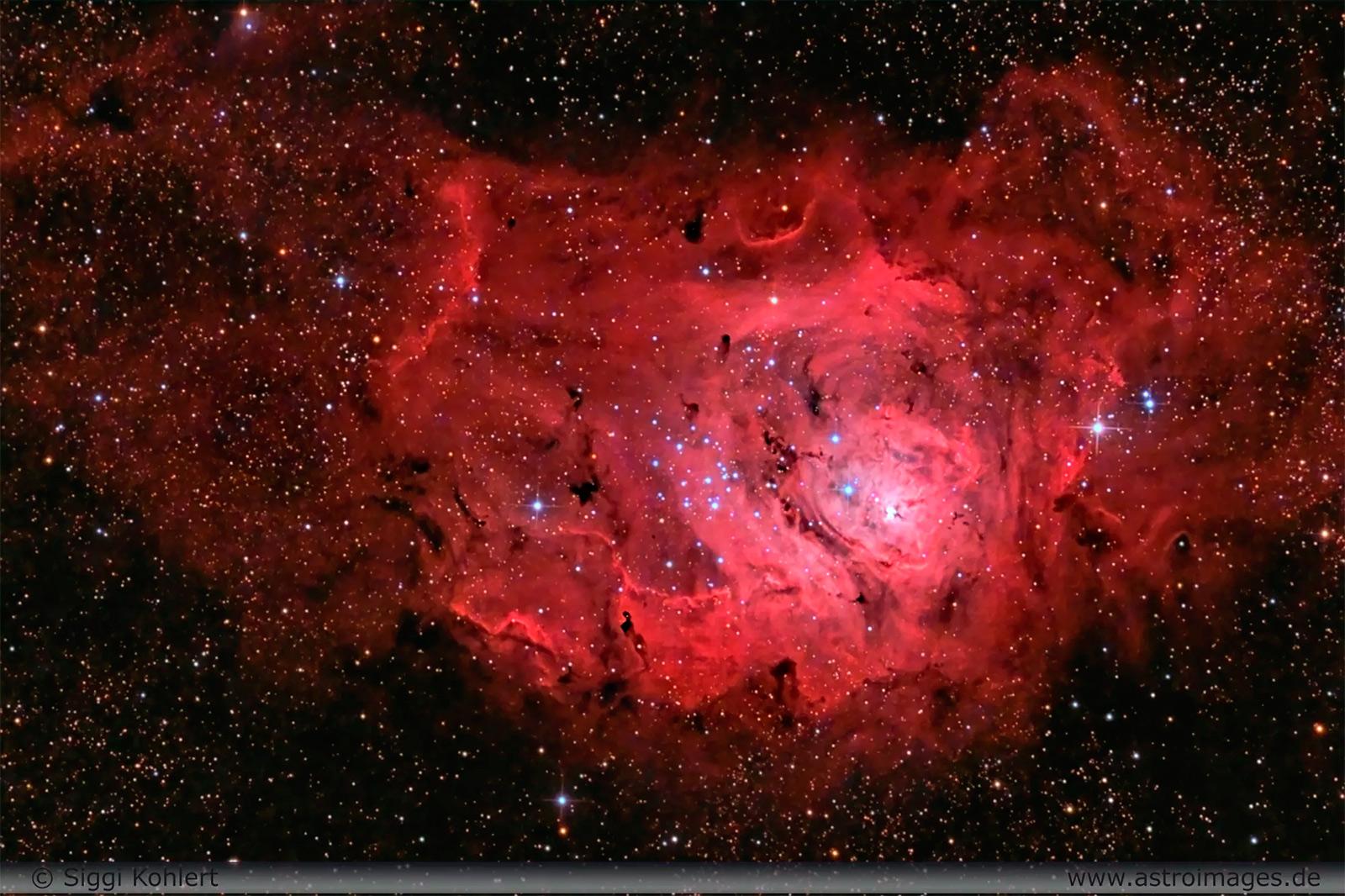 пример темной туманности - М8 лагуна