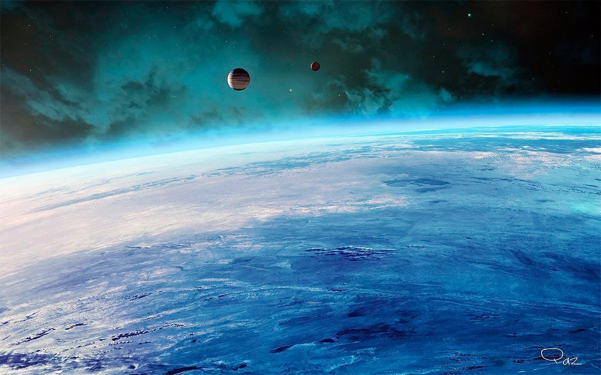 Наличие атмосферы у планеты - ещё не показатель её потенциальной обитаемости. Важно, из каких газов она состоит
