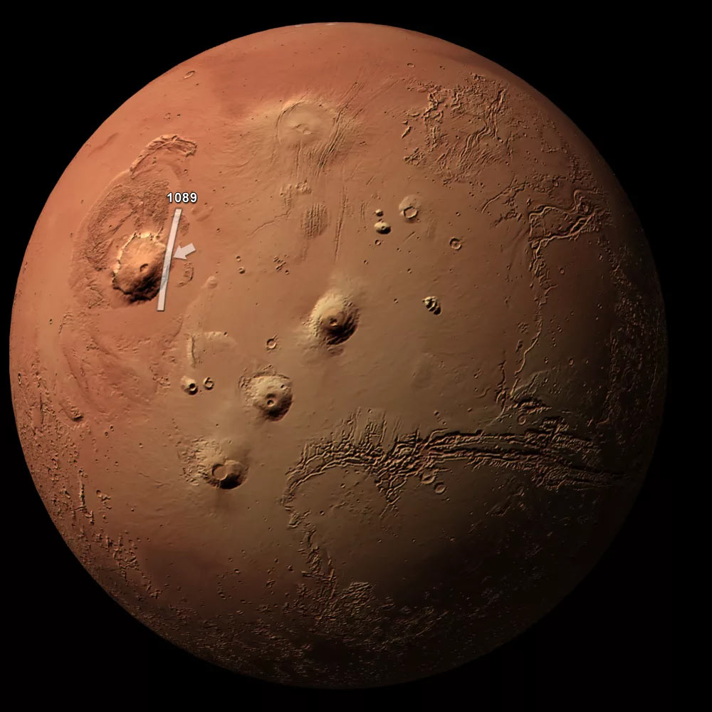 Вулканы Марса - одно из «чудес» солнечной системы. Они такие огромные