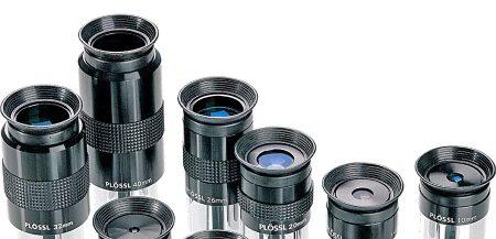 Различные виды окуляров для телескопов. Да, выбор здесь не меньше, чем у фотографов!