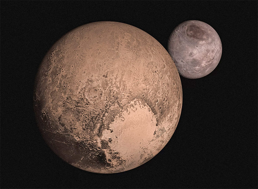 Карликовая планета Плутон и её спутник Харон