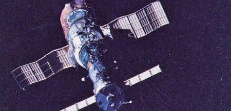 Советская орбитальная космическая станция «Салют-1» (1971 г.)