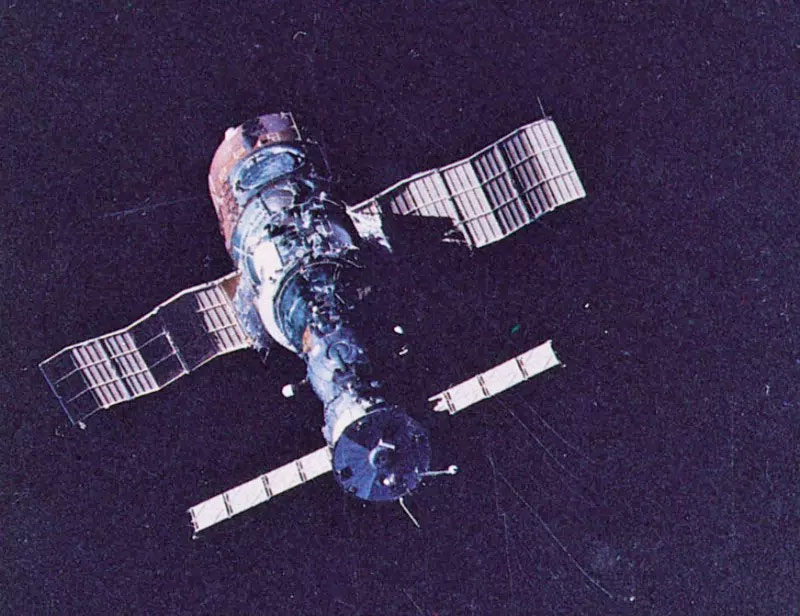 Советская долговременная орбитальная космическая станция «Салют-1» (1971 г.)