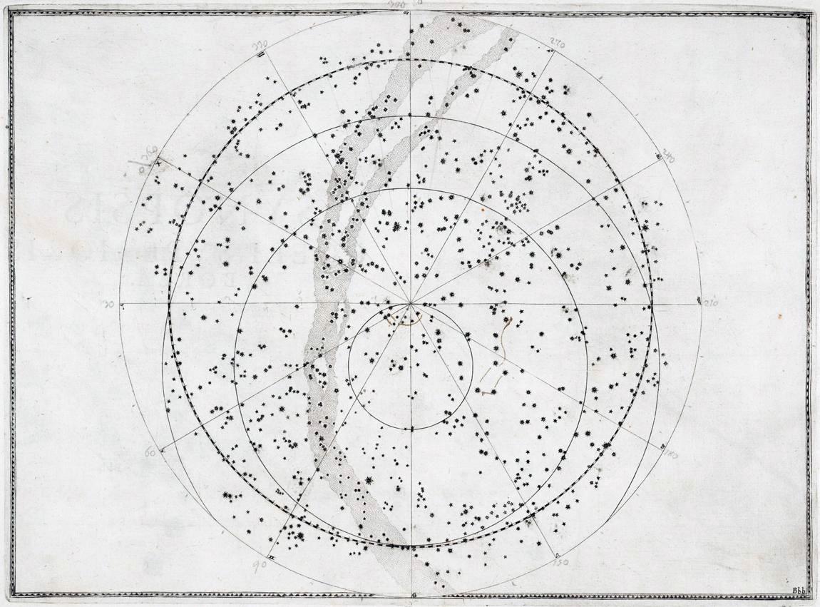 Один из первых звездных атласов «Уранометрия» (17 век)