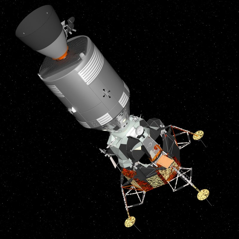 Космический корабль «Аполлон» с лунной кабиной