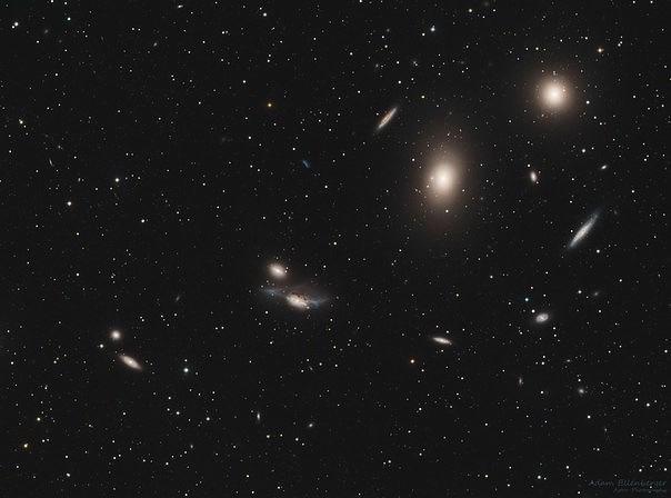 группа галактик «Цепочка Маркаряна» из скопления Девы.