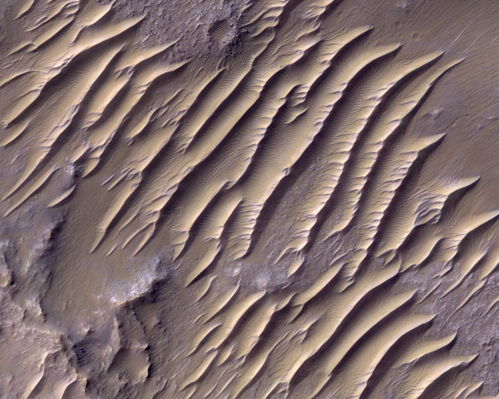 Воздействие ветров Марса на рельеф планеты. Выветривание идефляция почв