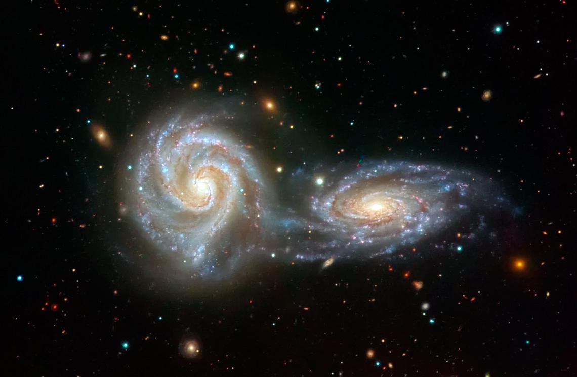 Что будет если столкнуться две галактики?