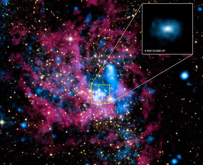 Столкновение черных дыр в космосе