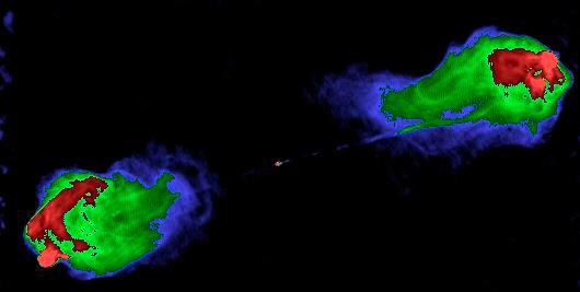 Классическим примером радиогалактики служит Лебедь А