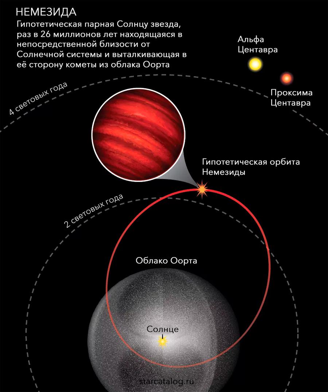 орбита гипотетической звезды Немезиды