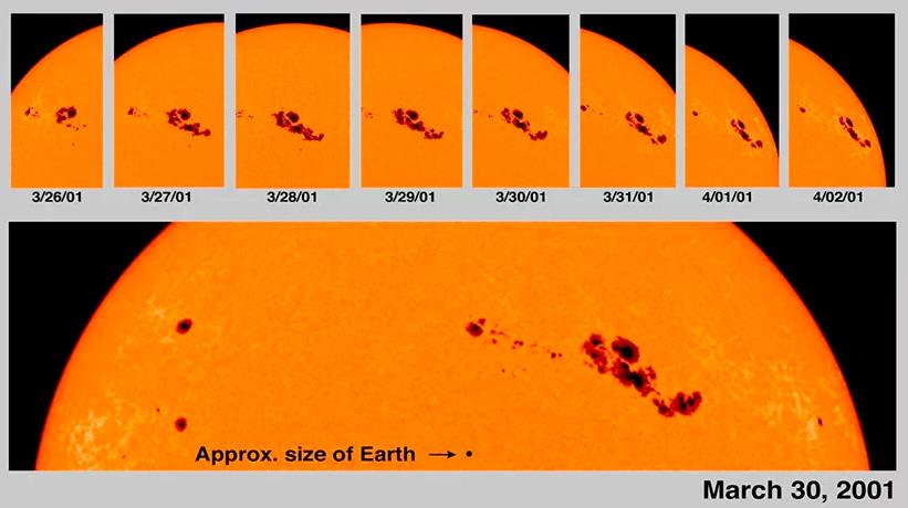 почему солнечные пятна темные