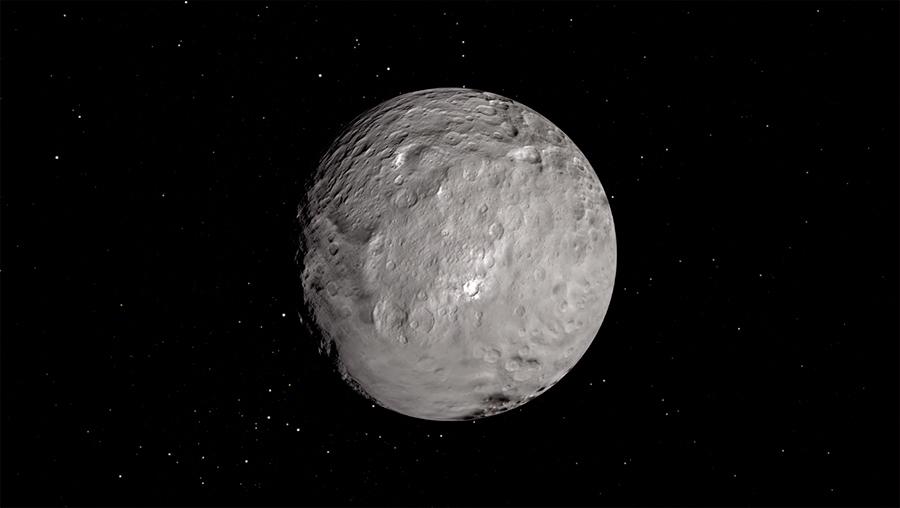 Астероид Церера - с виду мало похож на астероид, скорее на миниатюрную планету