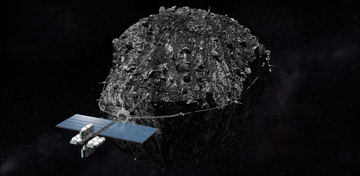 Транспортировка астероида для переработки его полезных ископаемых