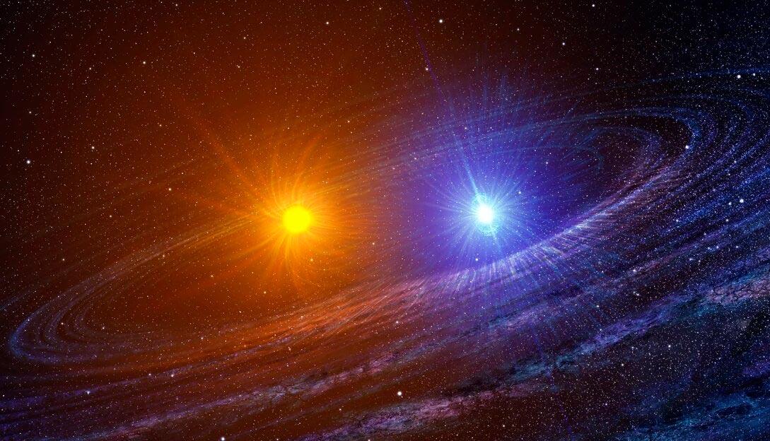 В большинстве случаев двойные звезды находятся не так близко друг к другу