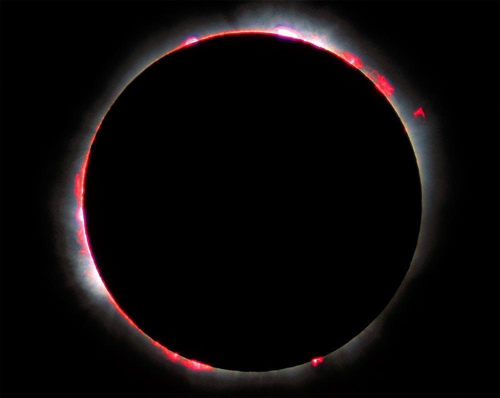 хромосфера Солнца во время затмения
