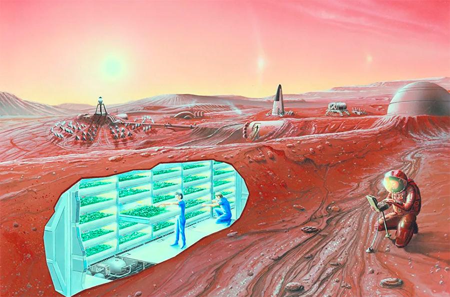 Космическая станция на другой планете. Даже сохдание таких станций-колоний, не отменяет важности Земли для человечества