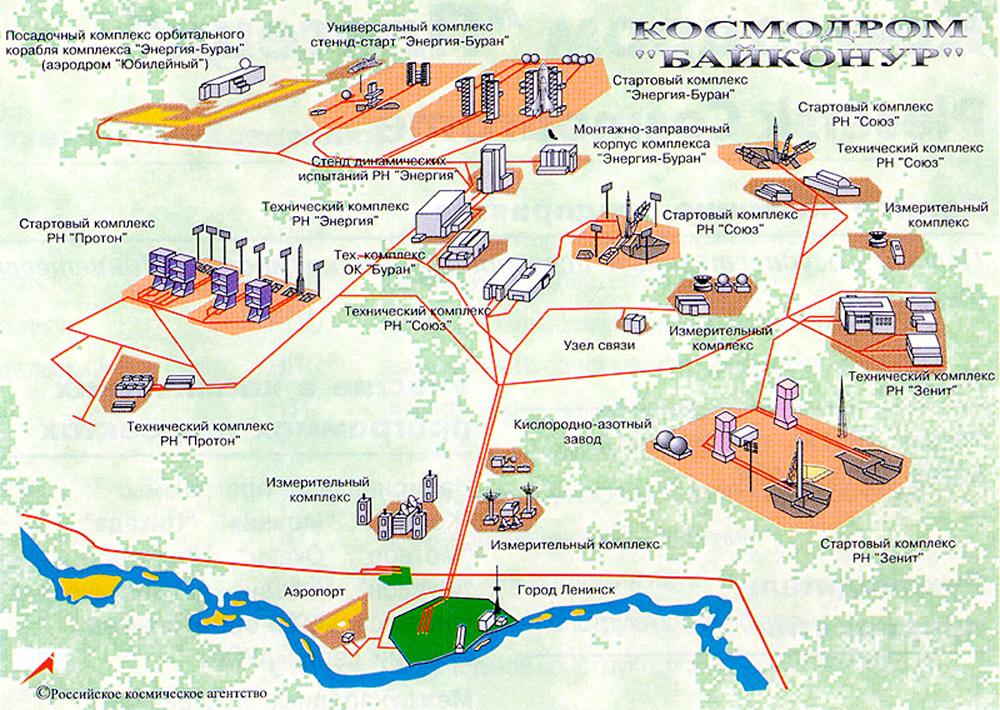 План космодрома «Байконур»