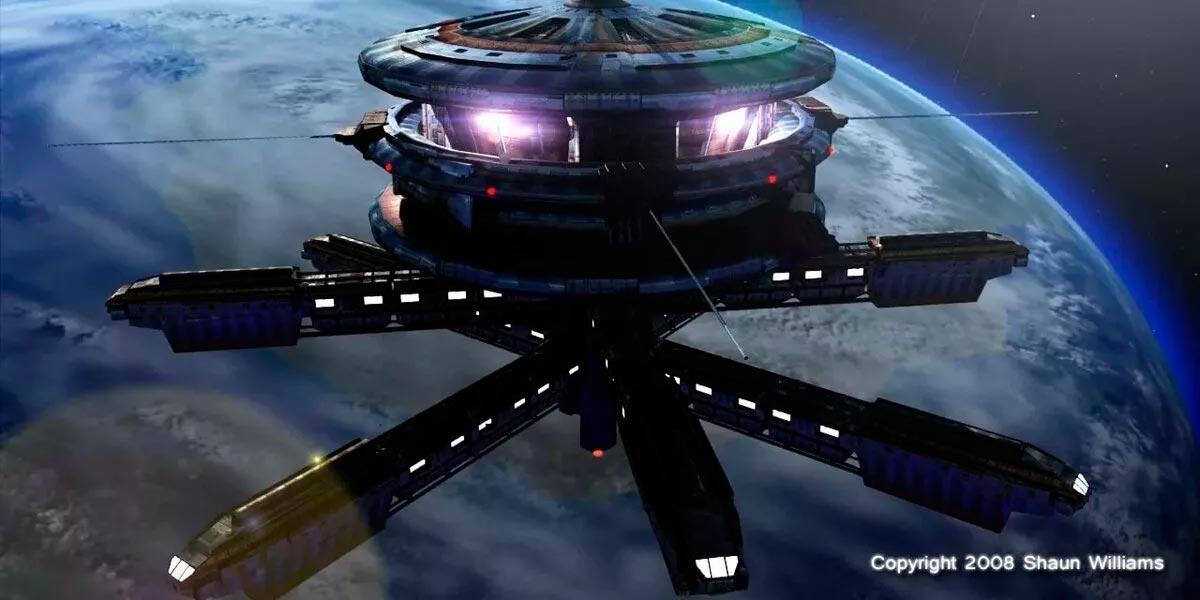 Космические города на орбите Земли