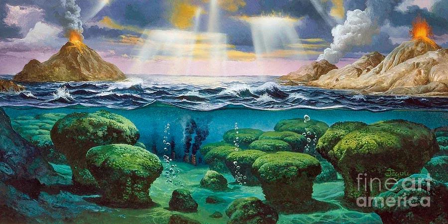 2 миллиарда лет назад на Земле уже существовала жизнь, однако она очень отличалась от того, что мы привыкли видеть теперь. Кислород - газ, без которого нам не выжить, для неё оказался губительным ядом.