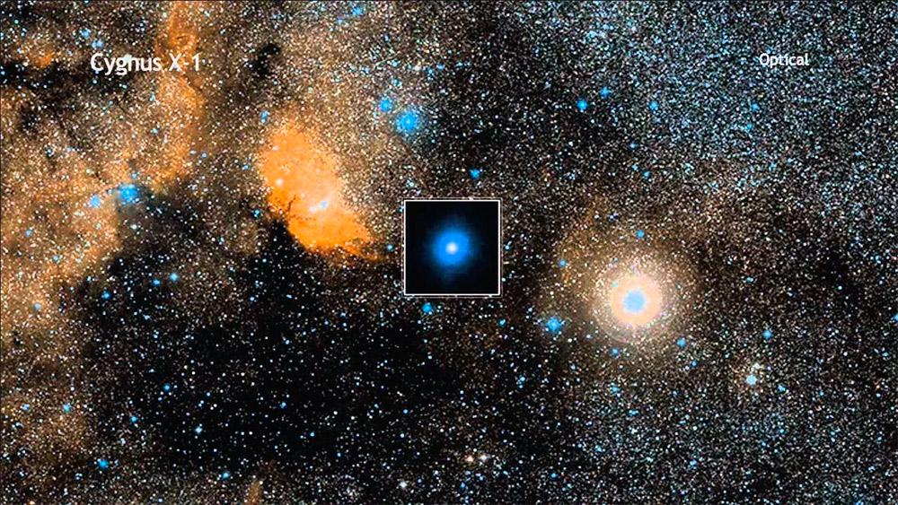 Радиоисточник Лебедь Х-1 - черная дыра существование которой зафиксировано визуально