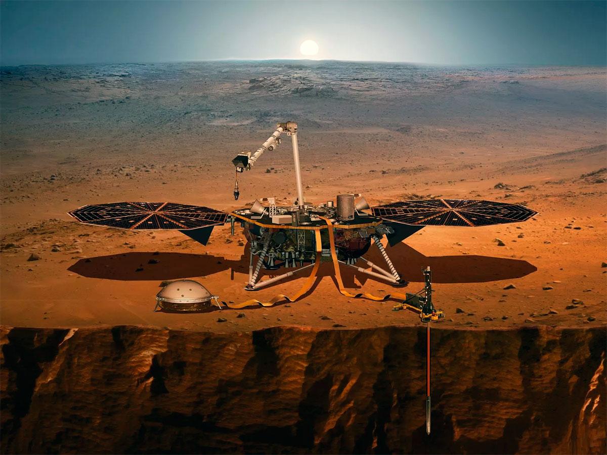 Космической станции InSign удалось зафиксировать десятки мелких марсотрясений