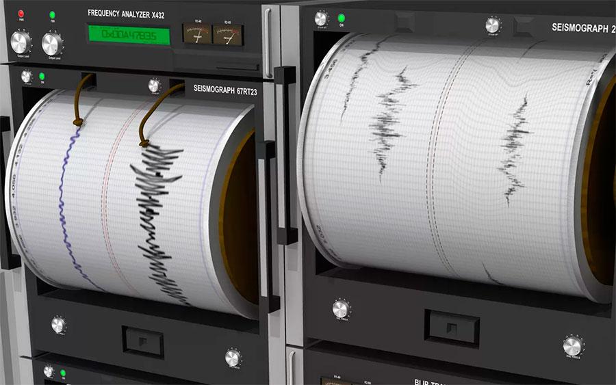 Сейсмограф - очень чувствительный прибор и фиксирует не только землетрясения, но и удары метеоритов, обвалы породы, даже сильные ветры могут повлиять на его показания