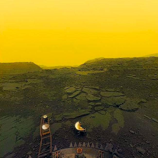 Межпланетная станция «Венера-13» позволила нам увидеть как выглядит поверхность Венеры