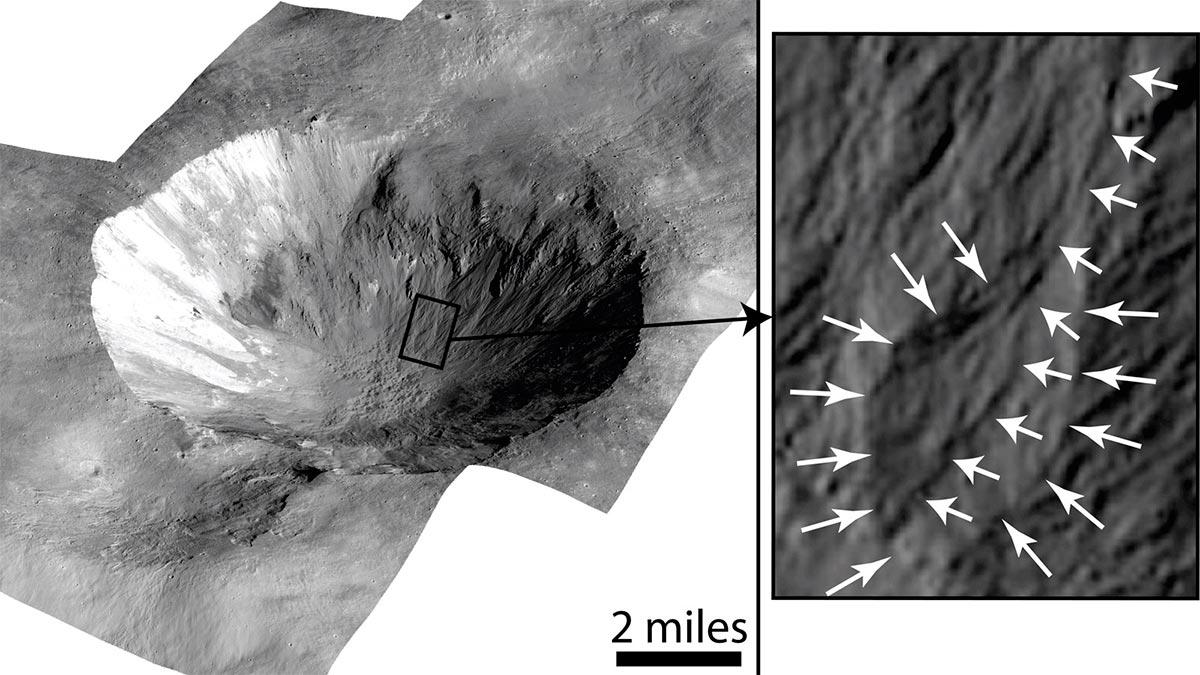 Вода на астероиде Веста