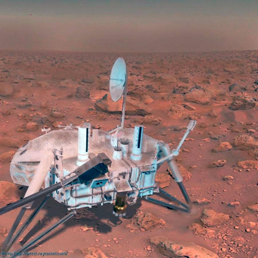Космическая станция «Викинг-2». Помогла нам заглянуть под поверхность красной планеты