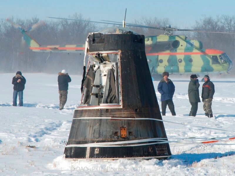 Спускаемая часть аппарата «Янтарь-2К»