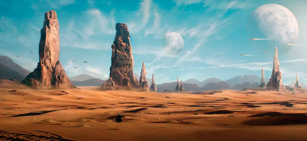 Фантастическая планета Арракис - раскаленная пустыня, которая, тем не менее, населена вполне разумными существами.