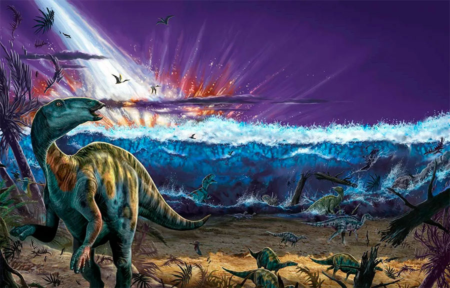 гибель динозавров от астероида Баптистина
