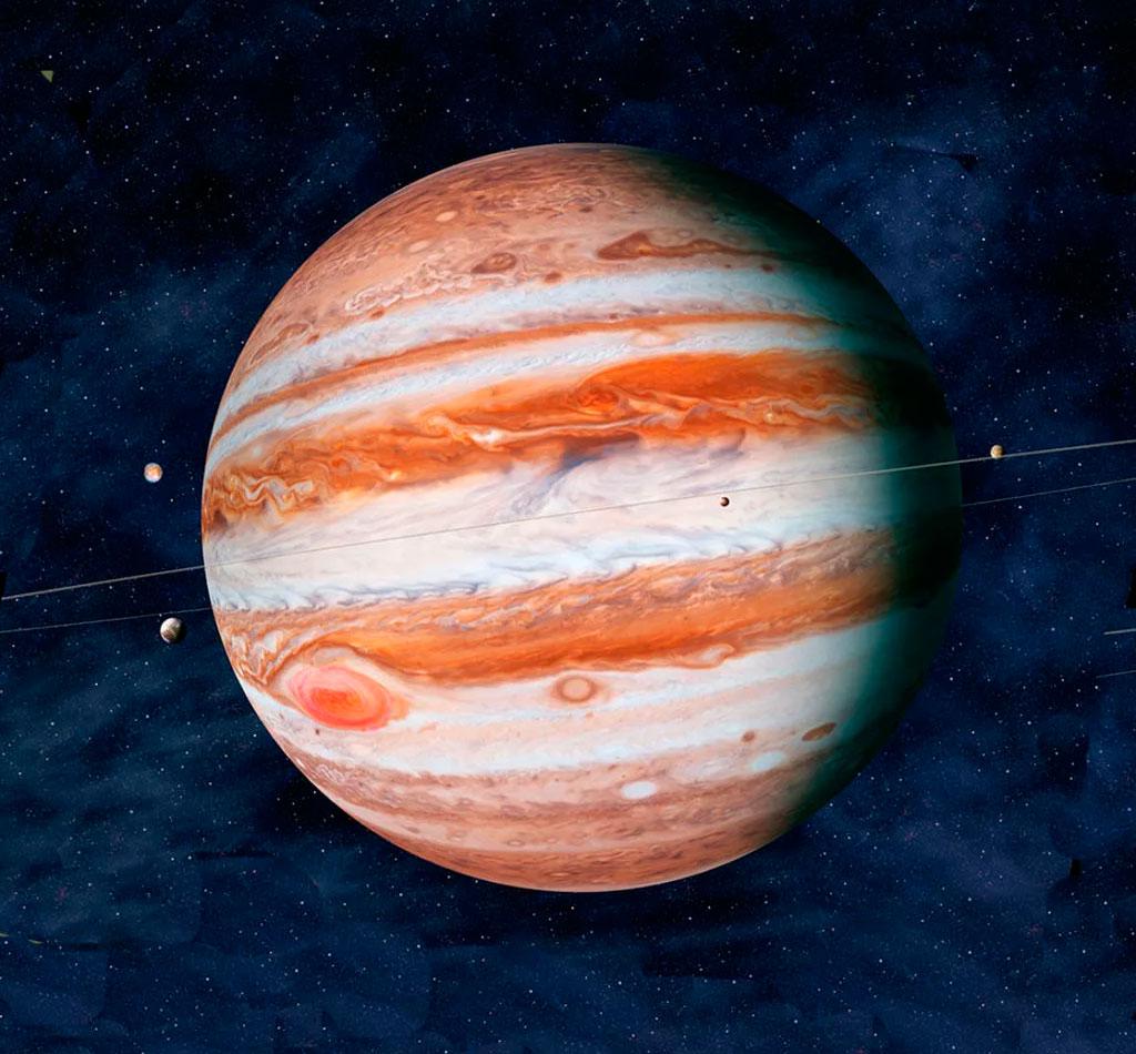 Юпитер - пятая по счету, но первая по массе и размерам планета Солнечной системы