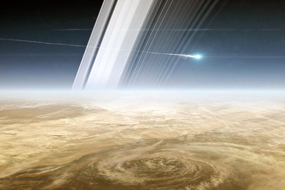 «Кассини» сгорает в атмосфере Сатурна
