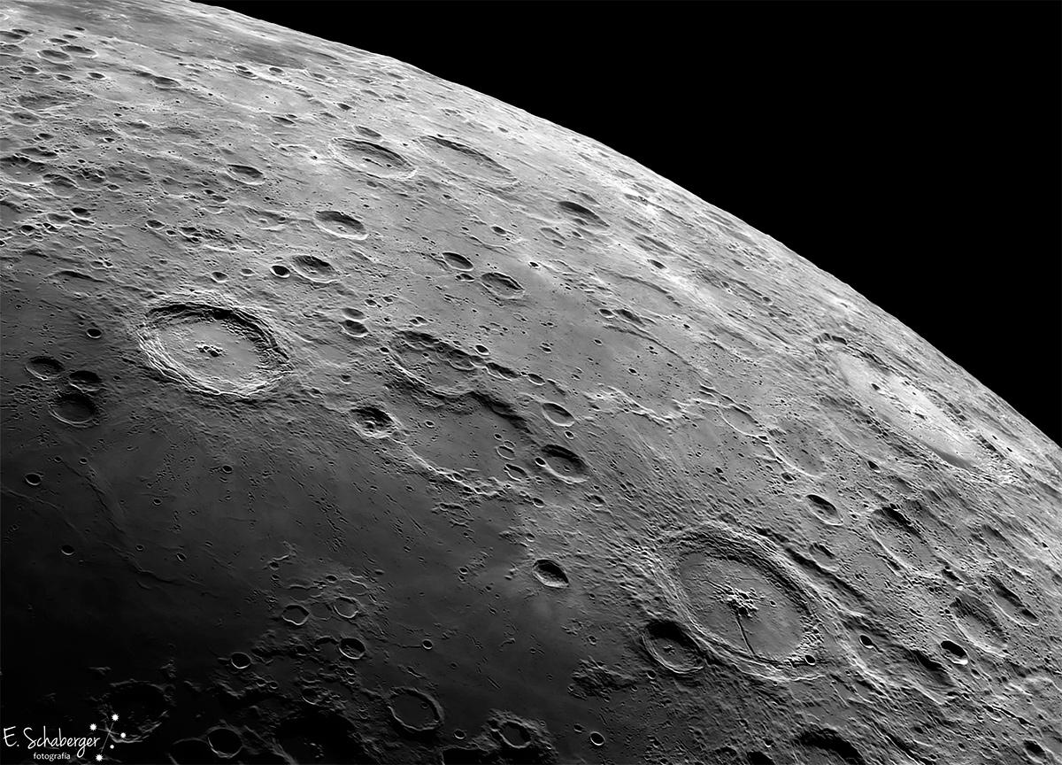 самые большие кратеры на луне в честь кого названы