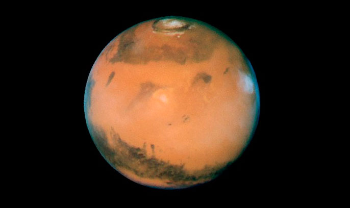 как виден марс в телескоп