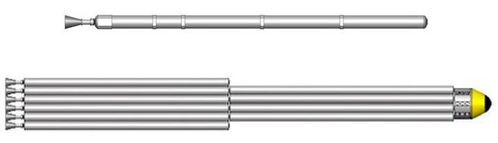 Ракета-носитель OTRAG построена по модульному принципу